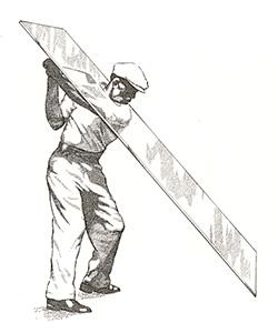 ゴルフ界に、スイングプレーンという考え方(理論)を初めて導入したベンホーガン